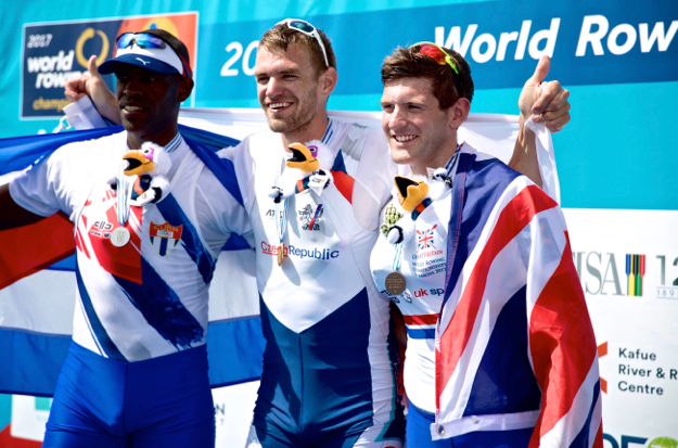 Tom Barras in World Rowing Championship