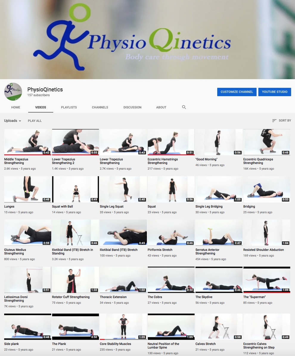 PhysioQinetics Youtube channel