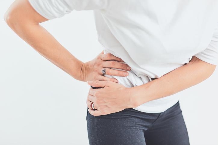 Female having painful hip