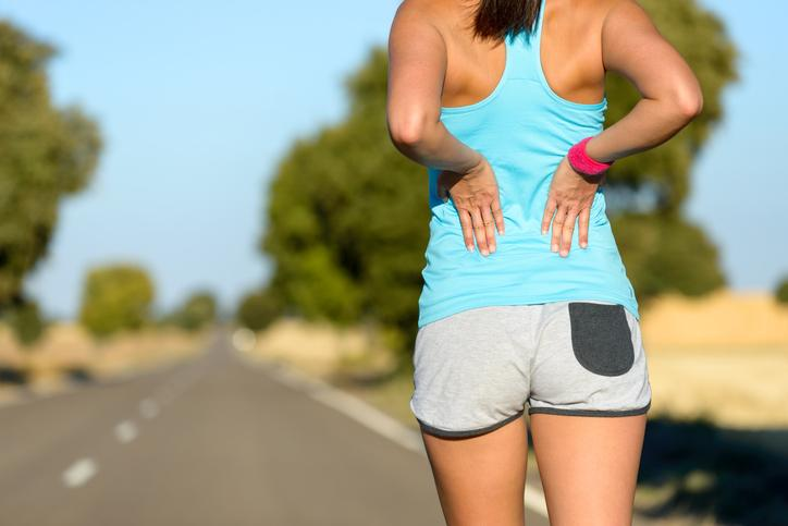Girl getting back pain while running