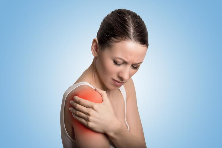 Female with shoulder pain