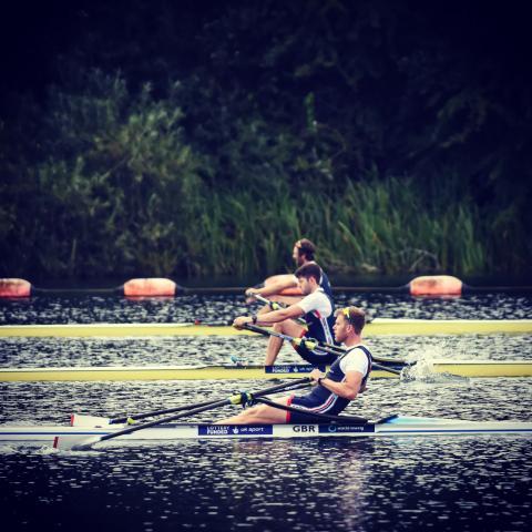 Tom Barras rowing