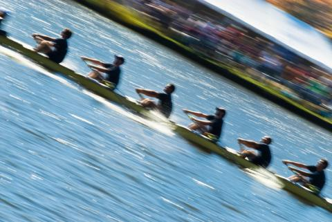 Rowing in motion